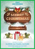 圣诞雪景海报