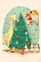 手绘圣诞节插画