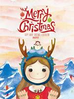 圣诞节女孩海报