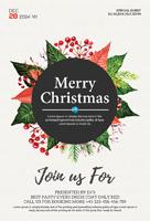 植物装饰圣诞海报