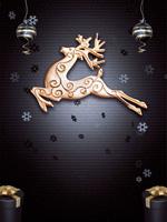 圣诞麋鹿PSD背景