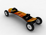四轮滑板模型