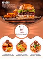 汉堡包广告海报