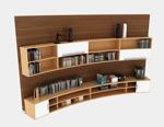 木质书柜3d模型