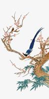 鸟在枝头中国画