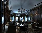 美式别墅客厅模型