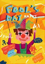 小丑愚人节海报