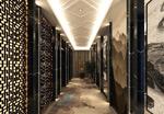 中式走廊模型