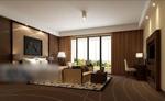 别墅卧室模型