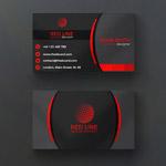 红色黑底商业名片