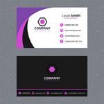 紫色弧形商务名片