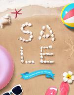 夏日海滩促销海报