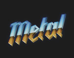 金属纹理字体样式