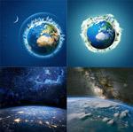 蓝色地球高清图片