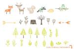 森林动植物图形