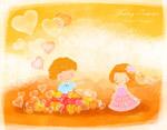 气球与儿童插画