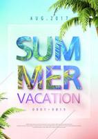 夏季假期旅游海报