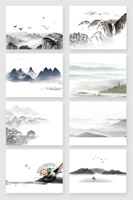 中国风水墨山水画