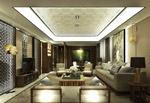 中式简约客厅模型