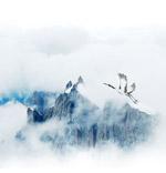 仙鹤山峦重阳背景