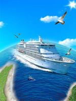 轮船旅游海报背景