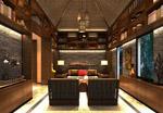 东南亚书房模型