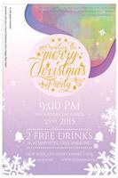 圣诞节折纸风海报