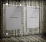 透明展板海报样机