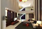中式别墅客厅模型