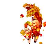 春节舞龙元素