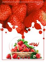 草莓上市促销背景