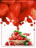 草莓上市促�N背景