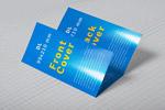 商务蓝色折页样机