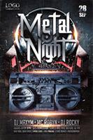 重金属之夜酒吧海报
