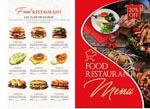 折页西餐菜单