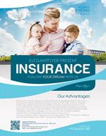 家庭保险宣传单