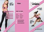 健身主题三折页