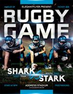 橄榄球赛海报
