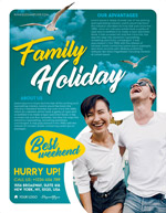 家庭度假旅游海报