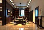 中式家居餐厅模型