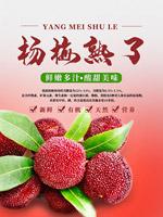 新鲜杨梅水果海报
