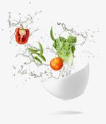 水波碗里的蔬菜