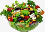 绿色的果蔬沙拉