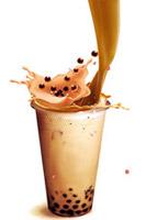 飞溅的巧克力奶茶