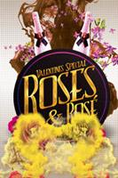 创意玫瑰花酒海报