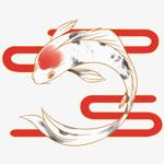 红色云纹锦鲤