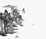 中国风山水墨画