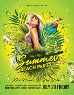 夏季海滩派对海报