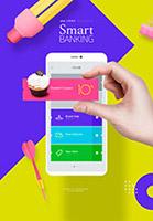 智能银行APP海报
