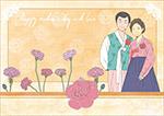 韩式服饰情侣人物